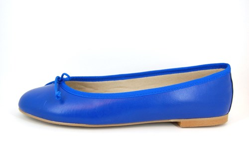 princess blue leather ballarinas