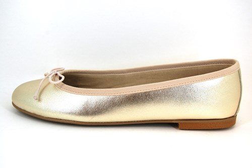 Soft leather ballerinas - champagne