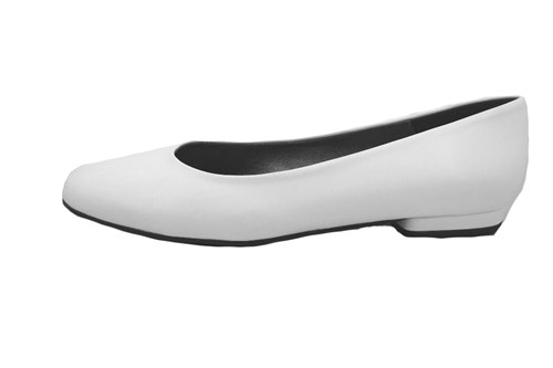 White plain ballerinas