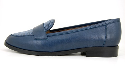 Blue ladies Penny Loafers
