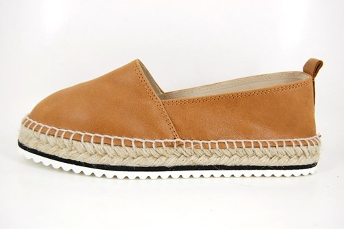 Natural leather espadrilles