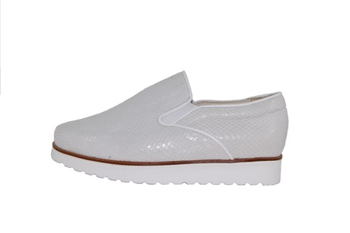 Stravers slip-on sneakers ladies - white leather
