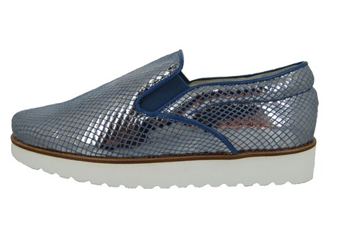 Stravers slip on sneakers woman - blue leather