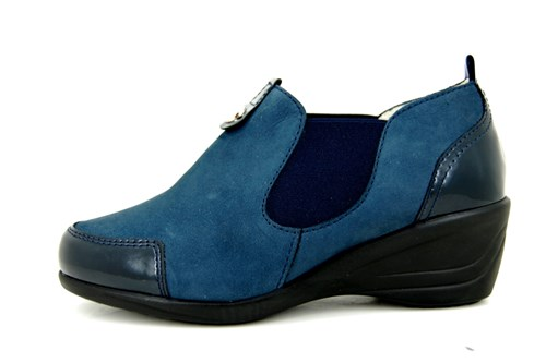 Blue slip-on sneakers