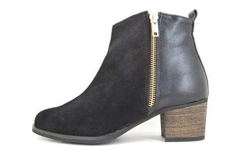 Black ankle boots mid heels