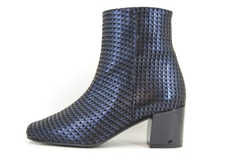 Blue Square Nose Ankle Boots