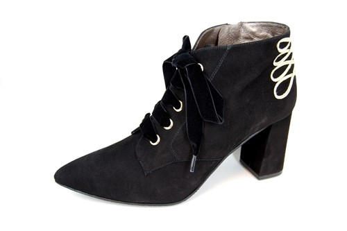 Black Military Look Ankle boots
