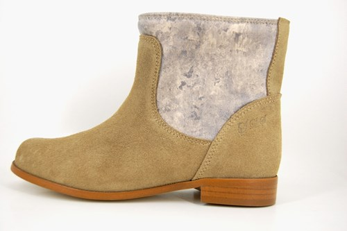 Sturdy short boots - beige