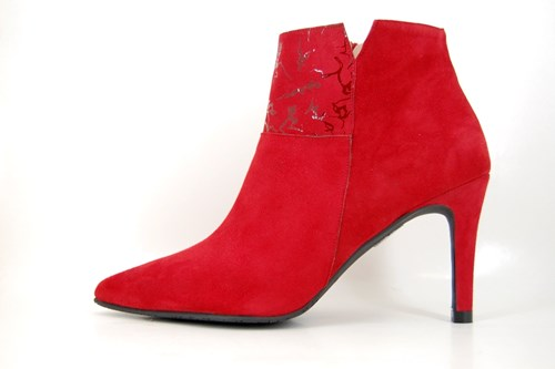 Chic short boots - red