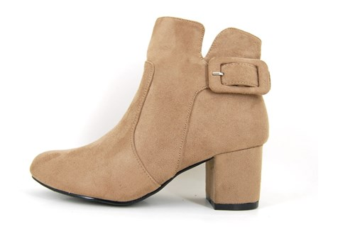 Sixties ankle boots - beige