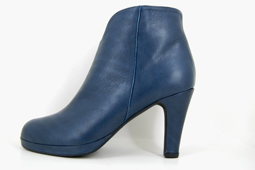 Timeless blue ankle boots