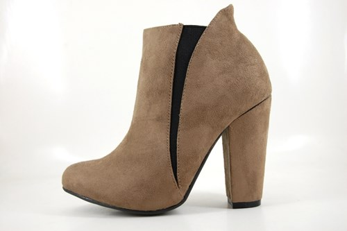 inexpensive ankle boots - beige