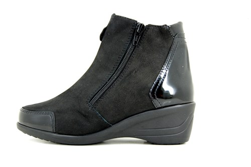 Comfortable ankle boots - black