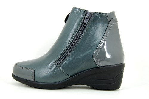 Comfortable ankle boots - grey