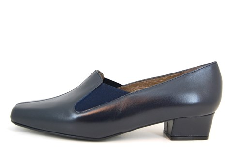 City Chic pump - blue leather
