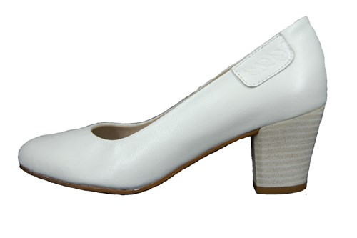 Soft leather pumps - white