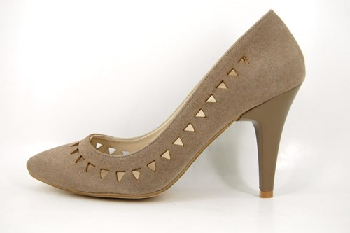 Taupe summer heels