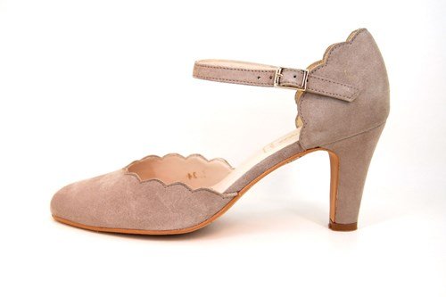 Luxury Taupe Heels with Strap