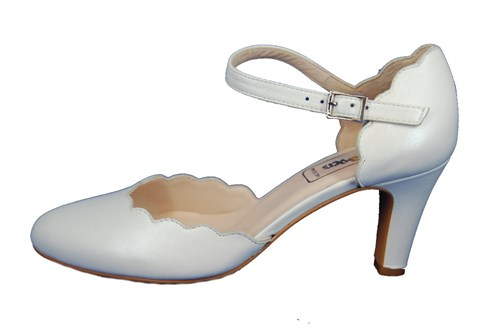 White strap pumps - wedding shoes