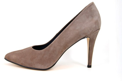 Pumps with High Heels - Taupe