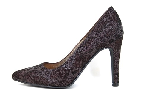 Exclusive heels - bordeaux grey black