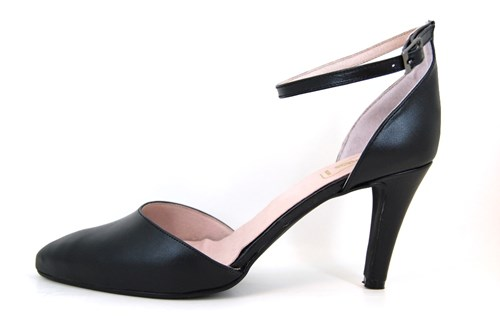 Pumps with Ankle Straps - black