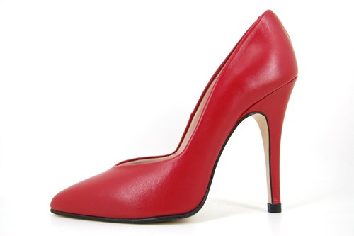 Red needle heels
