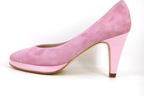 Rose Quartz platform pumps