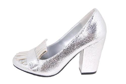 c1857b46887 70 s block heel pumps - silver