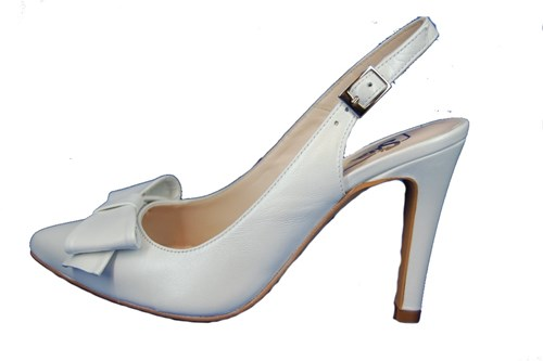 White slingback pumps - Weddingl shoes