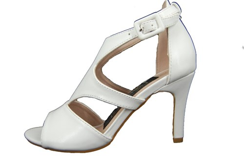 White peeptoe sandals - No Leather Shoes