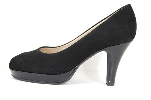 Luxury black peep toe