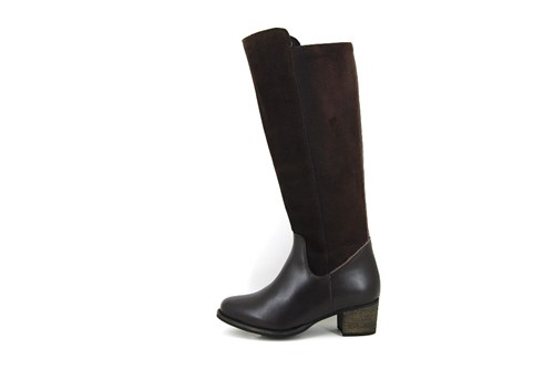 Sturdy brown leather boots