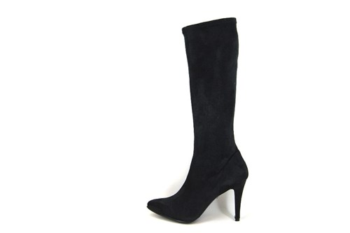 Long Stretch Boots High Heels - black
