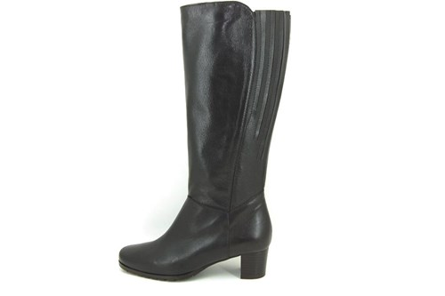 Wide shaft boots - dark brown