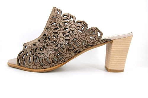 Mule heeled sandals - taupe