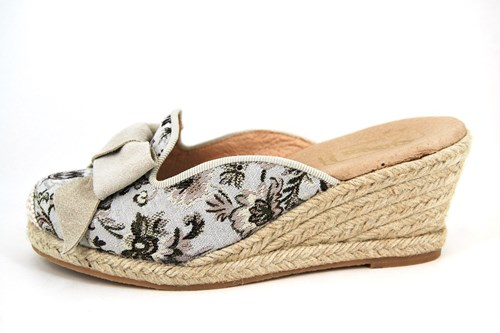 Espadrille wedge mules - beige   Small