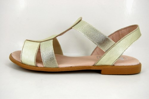 Elastic sandals - real gold
