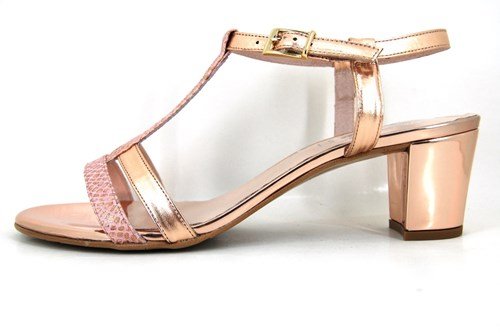 Edgy Couture sandals Rose Gold