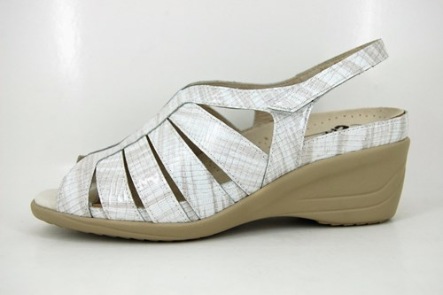 White comfortable sandals