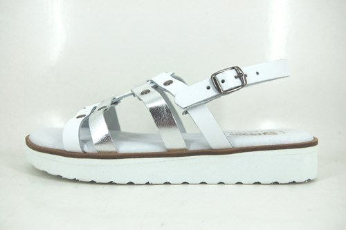 Stravers women sandals - white silver