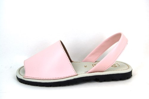 Leather Menorquinas - pink