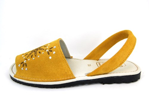 Spanish Glitter Sandals - yellow
