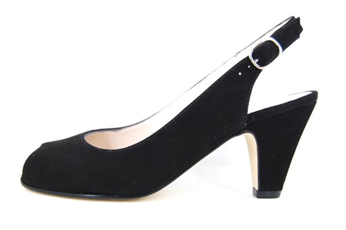 Timeless open shoes - black
