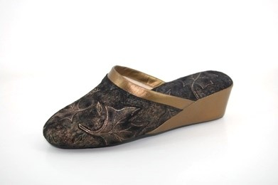 Exclusive Italian slippers - black bronce