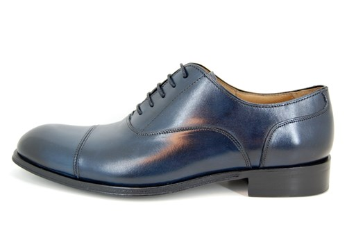 Elegant men's shoes - blue