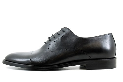 Black laser men's shoes
