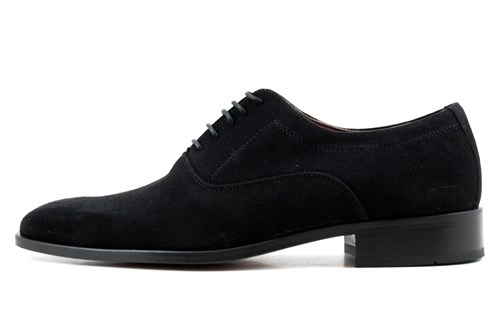 Stylish black suede men's shoes