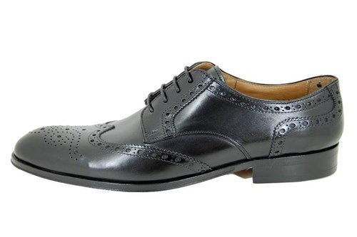 Derby brogue  men's shoes - black