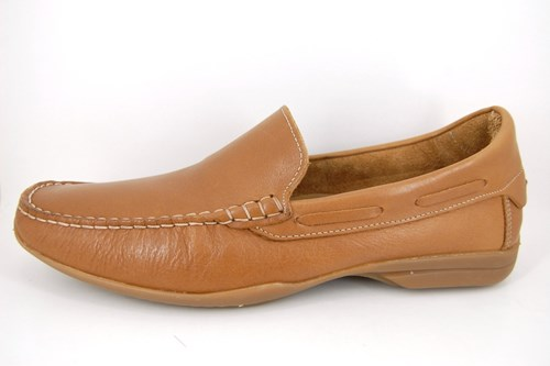 Large sizes loafers men - cognac